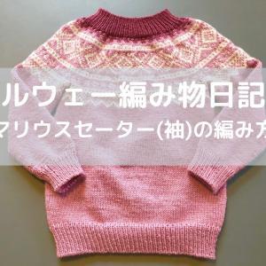ノルウェー編み物日記3【マリウスセーター(袖)の編み方】