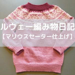 ノルウェー編み物日記5【マリウスセーターの仕上げ】