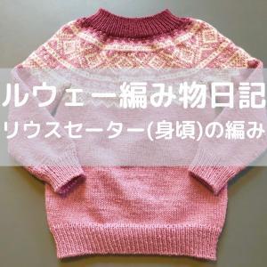 ノルウェー編み物日記4【マリウスセーター(身頃)の編み方】