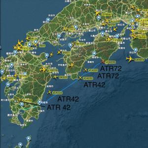 【航空】台風接近で、JAC各機が大阪・関空・但馬に避難