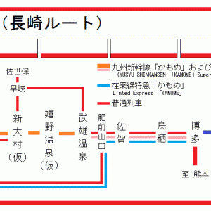 【JR九州】九州新幹線長崎ルート、列車名は『かもめ』。
