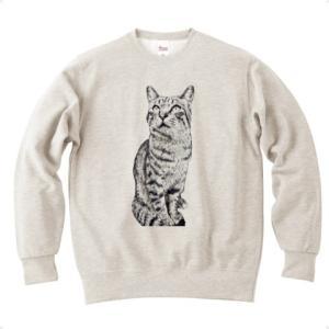 トラ猫トラ君 トレーナー (オートミール)