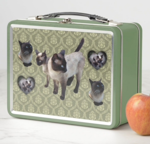 Thailand-born Siamese cat メタルランチボックス