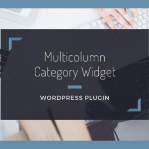 カテゴリーリストを2列にして表示する【Multicolumn Category Widget】の使い方