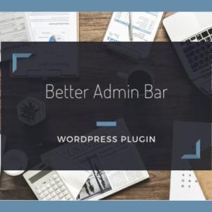 管理バーを非表示にしたり透過させることのできる【Better Admin Bar】の使い方