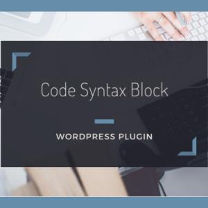 コードをシンタックスハイライト表示する【Code Syntax Block】の使い方