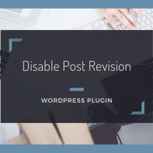リビジョン機能を無効にする【Disable Post Revision】の使い方