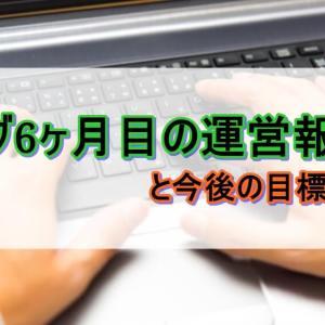 【ブログ運営】ブログ開設6ヵ月目の運営報告と振り返り!