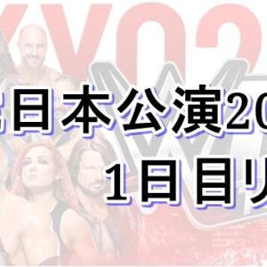 WWE日本公演2019 1日目の対戦結果とレポート!-WWE LIVE TOKYO DAY1-