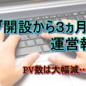【ブログ運営】ブログ開設3ヵ月目でPV数大幅減!?ブログ3ヵ月目の報告と振り返り!