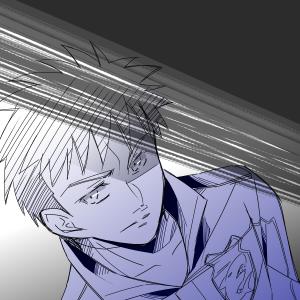視線で射殺せそうな黒エ田さん