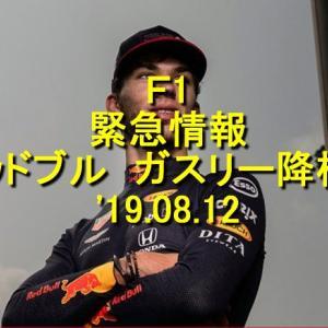 F1 レッドブルホンダ ついにガスリー降格 '19.08.12