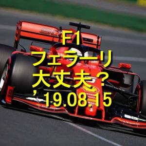 F1 フェラーリ大丈夫? '19.08.15