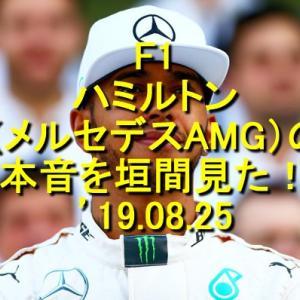 F1 ハミルトン(メルセデスAMG)の心境を垣間見た! '19.08.25