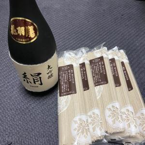 日本酒と蕎麦いただきました