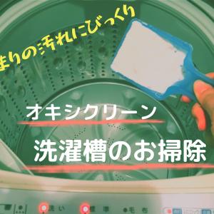 オキシクリーンで洗濯槽のお掃除  あまりの汚れにびっくり・・・