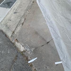 外構工事スタート 駐車場、駐輪場のコンクリート打設準備