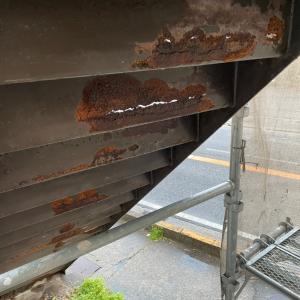 朽ち果てた鉄骨階段 修理完了!