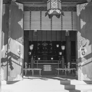 三嶋大社の拝殿の