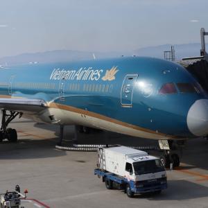 【搭乗記】ベトナム航空VN331 関西⇒ノイバイ ボーイング787-9 エコノミークラス