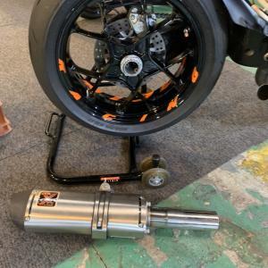 【ブログ】KTM 1290スーパーデュークR ワンオフマフラー 【作ってみた】