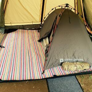 ロッジシェルター カンガルースタイル母子キャンプでお手軽設営