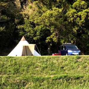 キャンピングヒルズ鴨川でファミリーキャンプ その1サイトからの景色がきれい!薬湯露天風呂が最高!