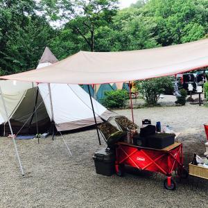 真夏の那須キャンプ キャンプアンドキャビンズ那須高原 その1台風通過直後の3泊キャンプ