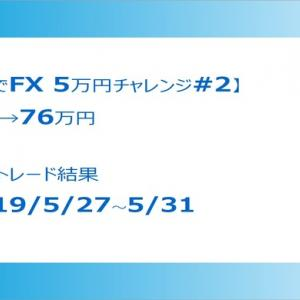 【XMで5万円チャレンジ#2】5/27-31 週次トレード結果