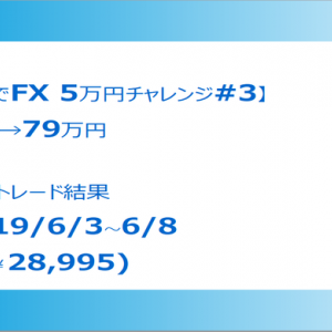 【XMで5万円チャレンジ#3】6/3-6/8 週次トレード結果