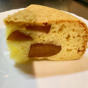 炊飯器で作るホットケーキミックスのケーキ!ブランデー漬けリンゴ入り^^