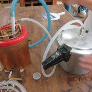 手作り蒸留器