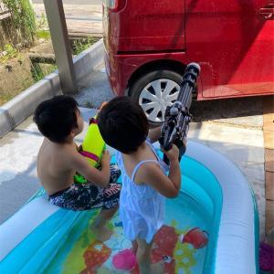 今夏初 おうちプール