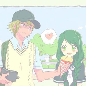 高校生時代の望月君&朝霧さん