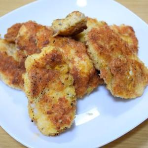 シュニッツェルっぽく作ってみた『鶏むね肉のパン粉揚げ焼き』