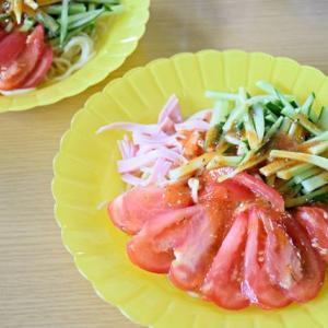 簡易トマトソースの洋風冷麺