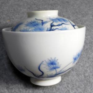 回想の古伊万里 138(染付藻文蓋茶碗)