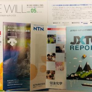 株 2019/12/2〜  配当と中間報告書が続々と