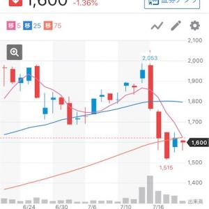 株2020/7/20週:ボロボロ(確定損益:±0円)