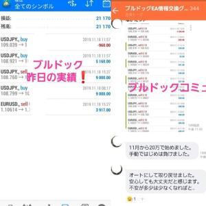 新FXツール収支報告11/19