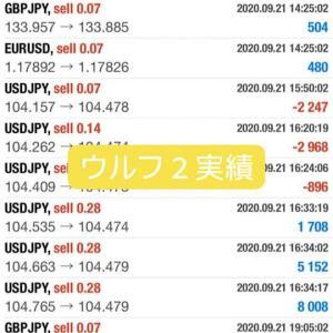 新FXツール収支報告09/18