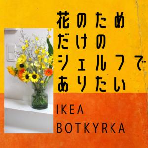 【IKEA ボッシルカ】余白にこそ価値を~なディスプレイしてみました。そして、もたらされる心の軽量化。