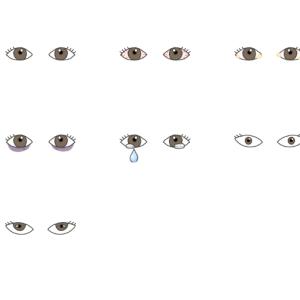 目のイラスト-いろいろな状態