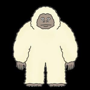 雪男のイラスト