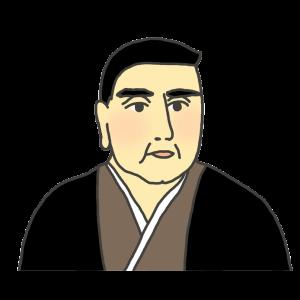 西郷隆盛の似顔絵イラスト