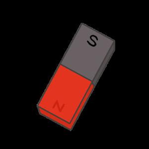 棒磁石のイラスト