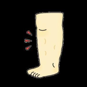 足のむくみのイラスト