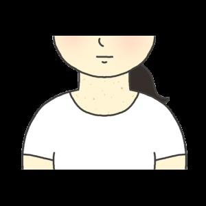 首イボのイラスト