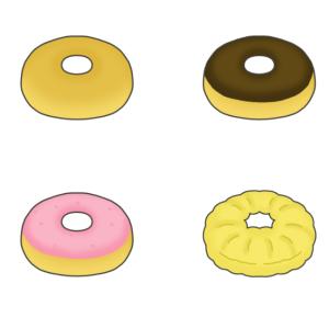 色々なドーナツのイラスト