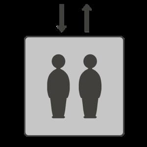 エレベーターマークのイラスト